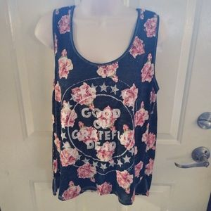 Mighty Fine Floral Grateful Dead Tank Top
